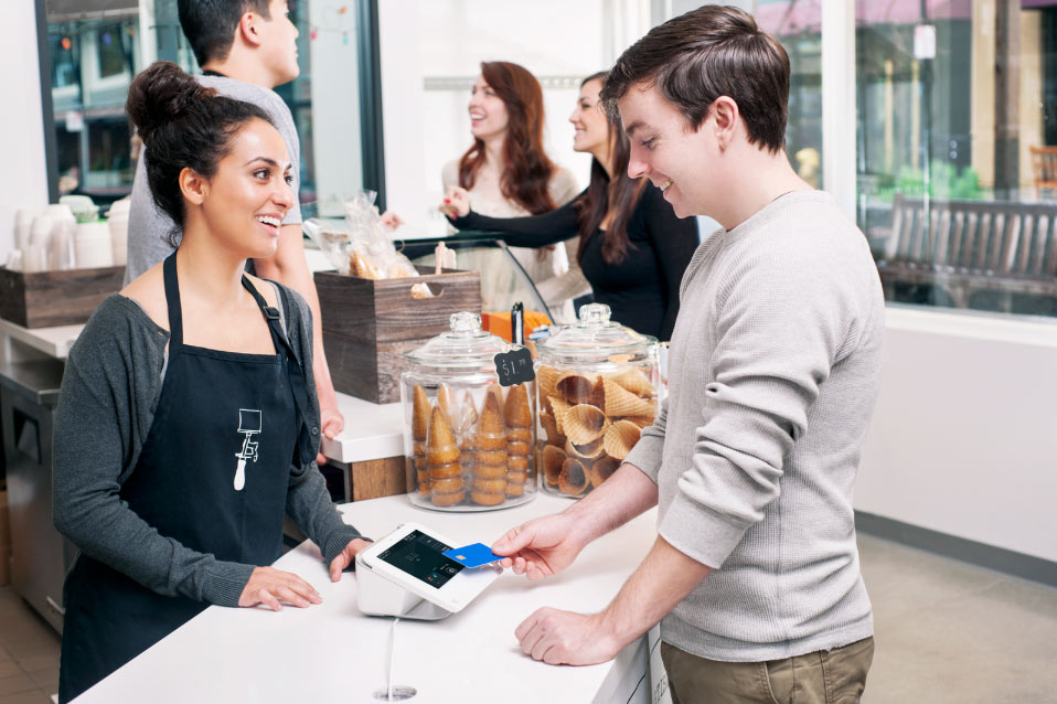 paying with pos